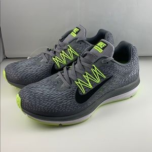Nike Zoom Winflo 5 Mens Running Shoes New Sz6 Grey